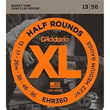 D'Addario EHR360 Half Round Jazz Medium Electric Guitar Strings