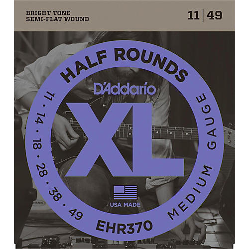 D'Addario EHR370 Guitar Strings Half Rounds Medium