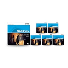 D'Addario EJ11 80/20 Bronze Light Acoustic Guitar Strings - 6-Pack
