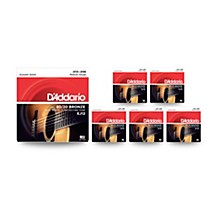 D'Addario EJ12 80/20 Bronze Medium Acoustic Guitar Strings - 6-Pack