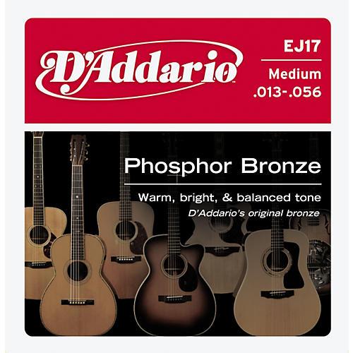 D'Addario EJ17 Phosphor Bronze Medium 10-Pack