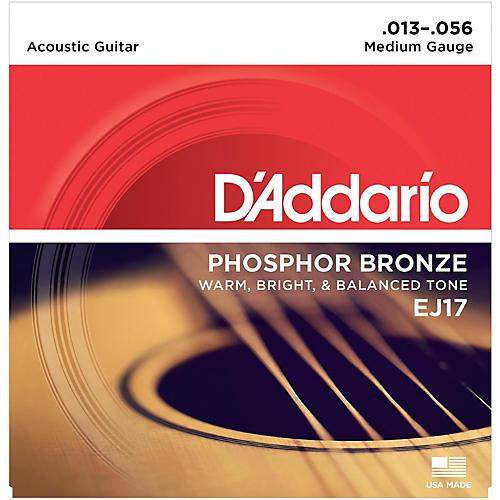 D'Addario EJ17 Phosphor Bronze Medium Acoustic Strings Single-Pack