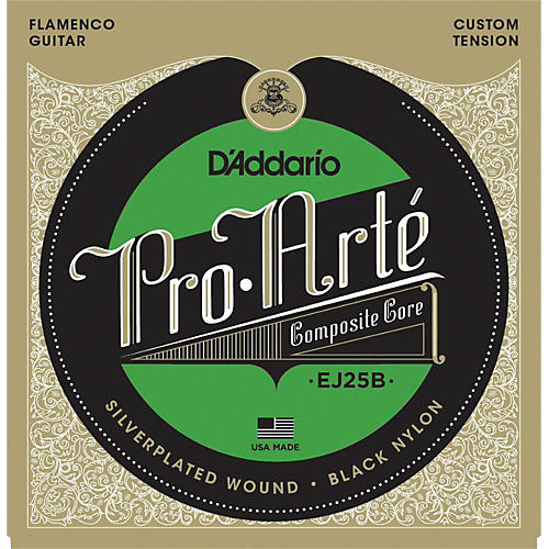 D'Addario EJ25B Pro-Arte Composites Flamenco Guitar Strings - Black Nylon