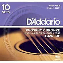 Open BoxD'Addario EJ2610-P 10-Pack Custom Light Acoustic Guitar Strings
