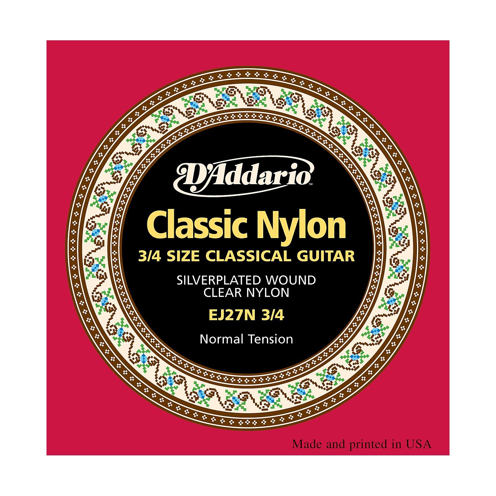 D'Addario EJ27 Nylon Classical Guitar Strings - 3/4 Size