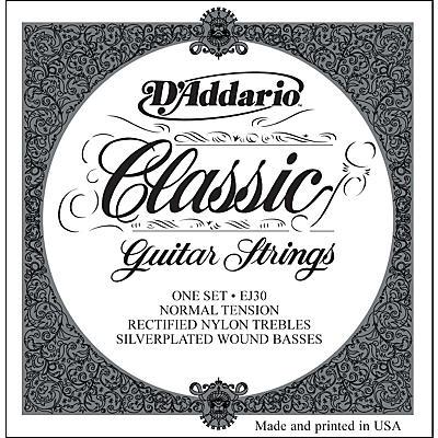 D'Addario EJ30 Rectified Classics Normal Tension Classical Guitar Strings Regular