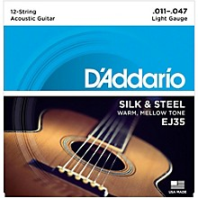 "D'Addario EJ35 Silk & Steel Silver Wound 12-String .011""-.047"" Guitar Strings"