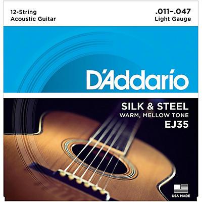 "D'Addario EJ35 Silk & Steel Silver Wound 12-String .011""-.047"" Guitar Strings"