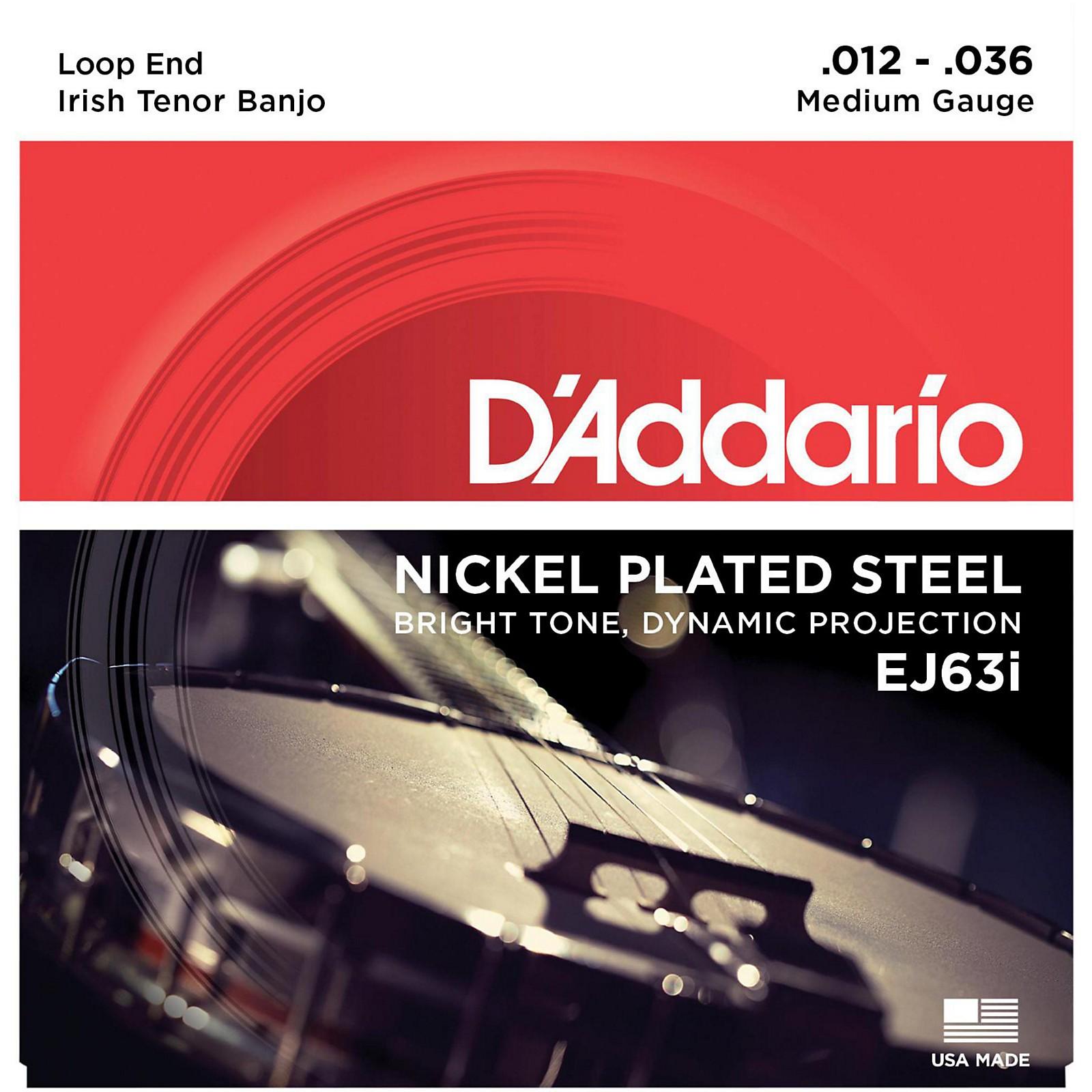 D'Addario EJ63i Nickel Irish Tenor Banjo Strings (9-30)