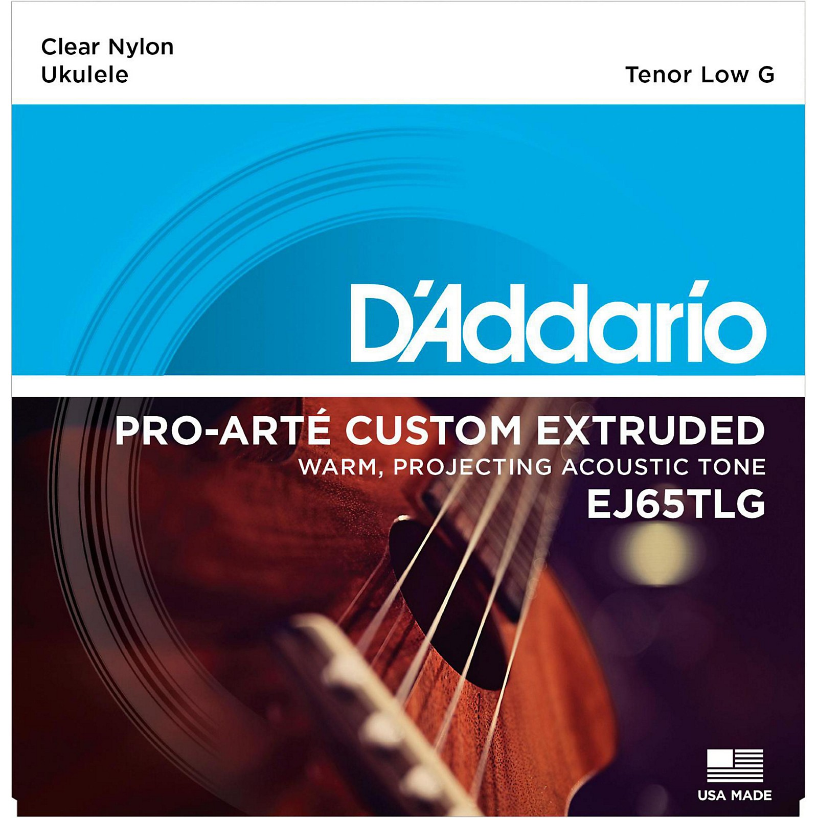 D'Addario EJ65TLG Pro-Arte Custom Extruded Tenor Low G Nylon Ukulele Strings