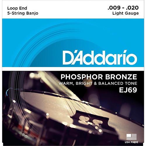 D'Addario EJ69 Phosphor Bronze Light 5-String Banjo Strings (9-20)