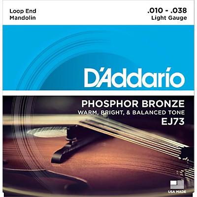 D'Addario EJ73 Phosphor Bronze Light Mandolin Strings (10-38)