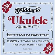 D'Addario EJ87B Titanium Baritone Ukulele Strings