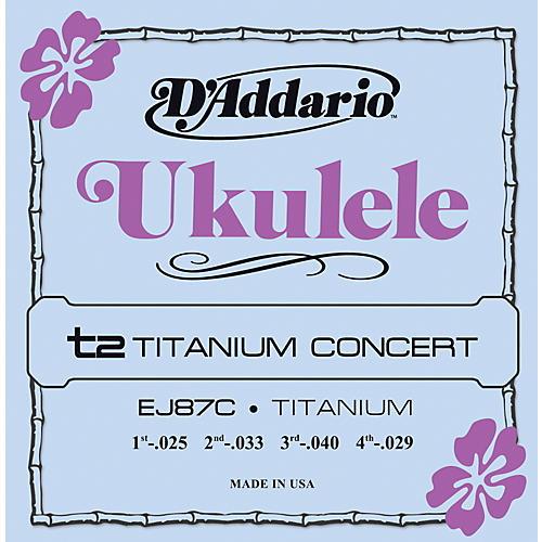 D'Addario EJ87C Titanium Concert Ukulele Strings