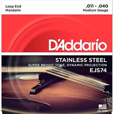 D'Addario EJS74 Stainless Steel Medium Mandolin Strings (11-40)