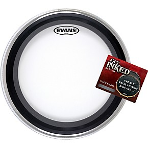 evans emad bass drumhead pack 22 with inked by evans gift card musician 39 s friend. Black Bedroom Furniture Sets. Home Design Ideas