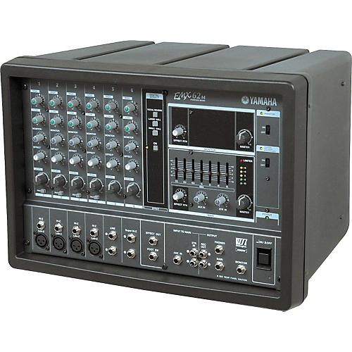 Yamaha emx62m 6 channel powered mixer musician 39 s friend for Mesa yamaha autoamplificada