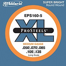 D'Addario EPS160-5 Pro Steels Medium Gauge Long Scale 5-String Bass Strings