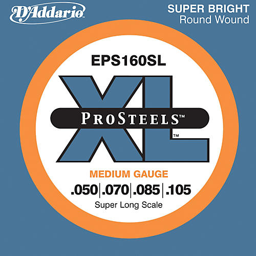 D'Addario EPS160SL XL ProSteels Super Long Scale Medium Gauge Bass Strings