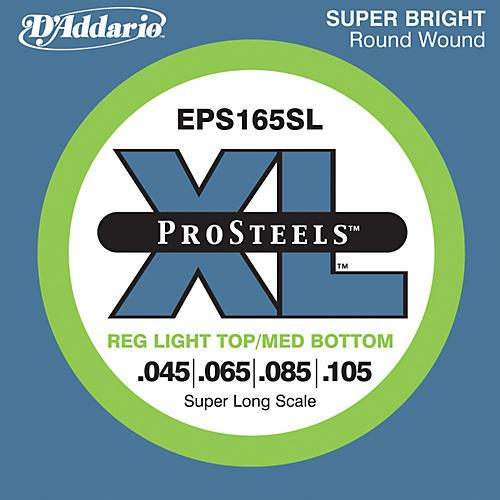D'Addario EPS165SL XL ProSteels Light Top/Medium Bottom Super Long Scale Bass Strings