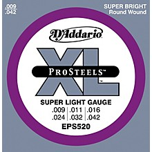 D'Addario EPS520 ProSteels Super Light Electric Guitar Strings