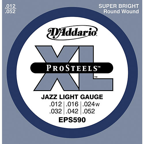 D'Addario EPS590 ProSteels Light Jazz Electric Guitar Strings