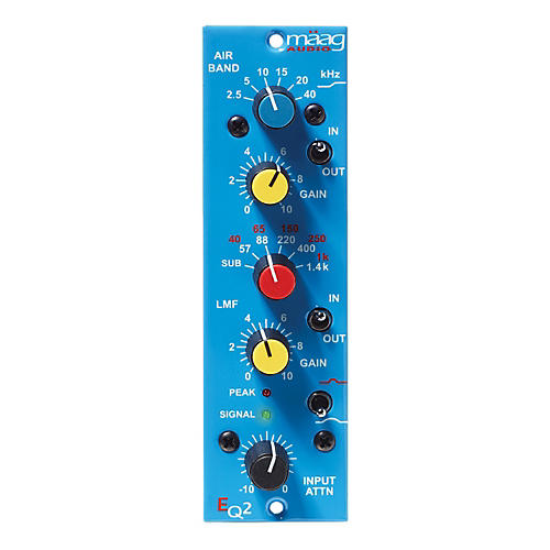 Maag Audio EQ2 2 Band Equalizer w/AIR BAND and Input ATTN - 1 Channel (500 Series)