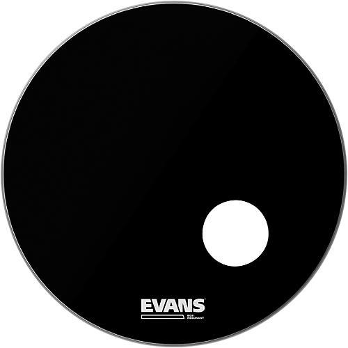 Evans EQ3 Black Resonant Bass Drumhead 24 in.