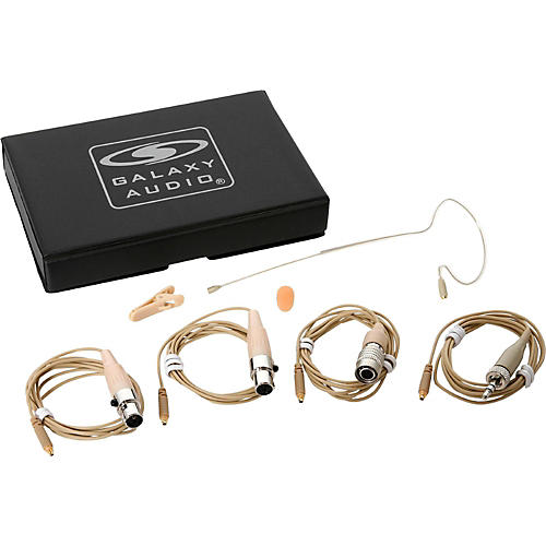 Galaxy Audio ESM8 Omni-Directional Single Ear Headset Microphone With 4 Mixed Cables