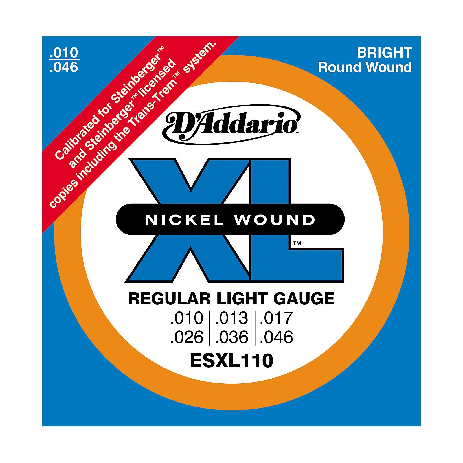 D'Addario ESXL110 Steinberger Regular Light Double Ball End Electric Guitar Strings