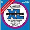 D'Addario ESXL120 Nickel Double Ball End Super Light Electric Guitar Strings thumbnail