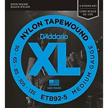 D'Addario ETB92-5 Medium Black Nylon Tapewound 5-String Bass Strings