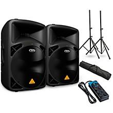 "Behringer EUROLIVE B615D 15"" Powered Speaker Pair and Power Strip"