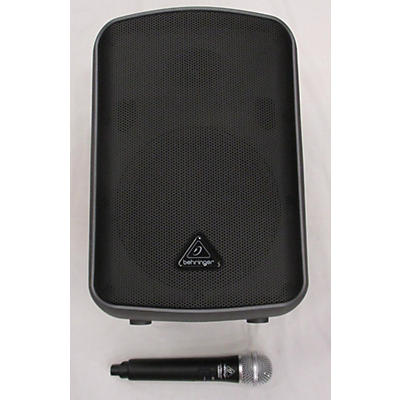 Behringer EUROPORT MPA200BT Portable Bluetooth Wireless Rechargeable 8 In. Speaker With Microphone Powered Speaker
