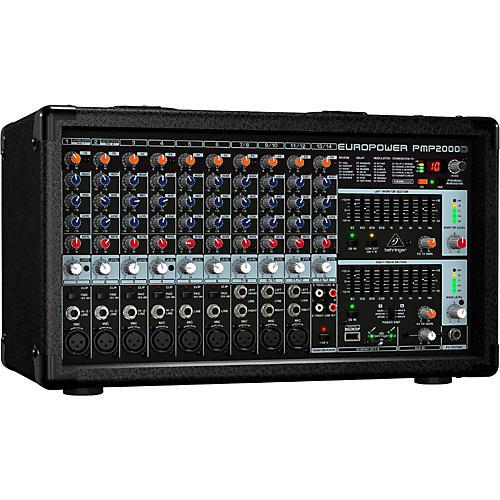 Behringer EUROPOWER PMP2000D 800-Watt 14-Channel Powered Mixer with Multi-FX Processor