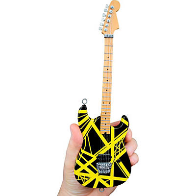 Unique Engineering EVH Bumblebee (Black and Yellow) Miniature Replica Guitar - Van Halen Approved