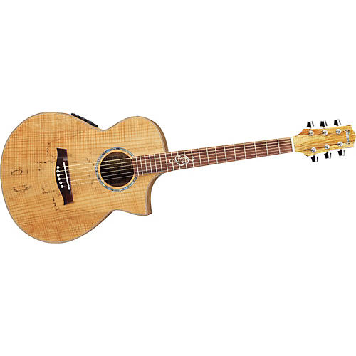 Ibanez EWC30SM Exotic Wood Spalted Maple Compact Acoustic-Electric Guitar