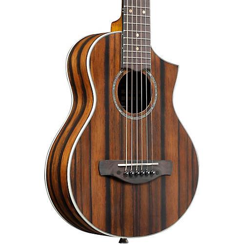 Ibanez EWP13DBO Exotic Wood Piccolo Acoustic Guitar Dark Brown Open Pore