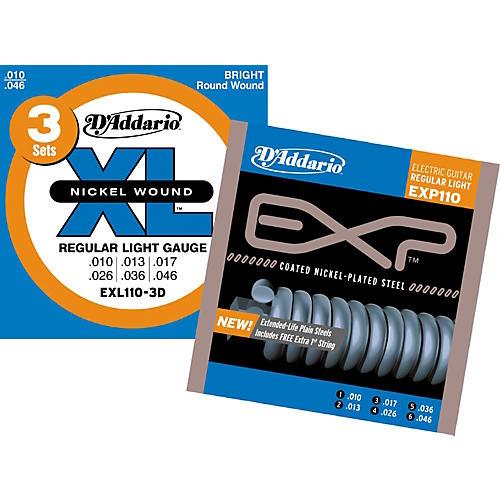 D'Addario EXL110-3D Light Electric Strings & Free EXP110 Light Electric Strings