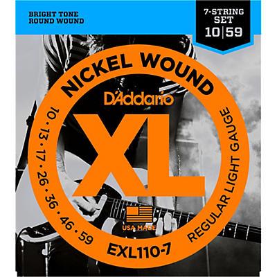 D'Addario EXL110-7 Lite 7-String Electric Guitar Strings