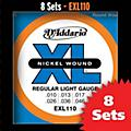 D'Addario EXL110 Light Nickel Electric Guitar Strings - 8-Pack thumbnail