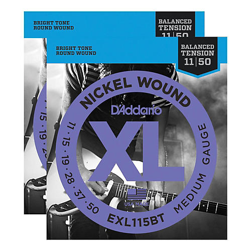 D'Addario EXL115BT Balanced Tension Medium Electric Guitar Strings (2-Pack)