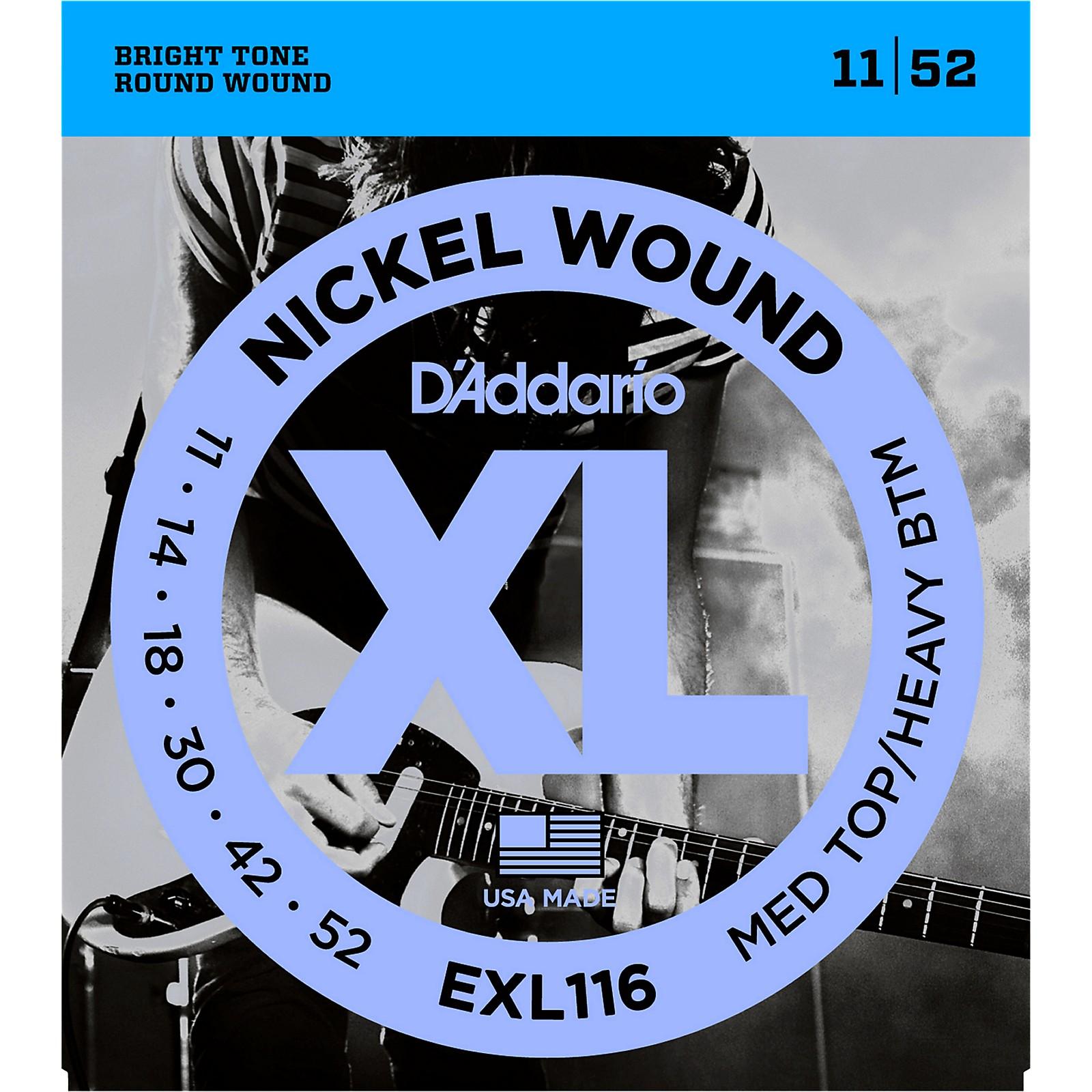D'Addario EXL116 XL Electric Guitar Strings Medium Top/Heavy Bottom