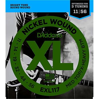 D'Addario EXL117 Medium Top/Extra-Heavy Bottom, Nickel-Wound Electric Guitar Strings
