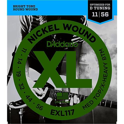 d 39 addario exl117 medium top extra heavy bottom nickel wound electric guitar strings musician. Black Bedroom Furniture Sets. Home Design Ideas