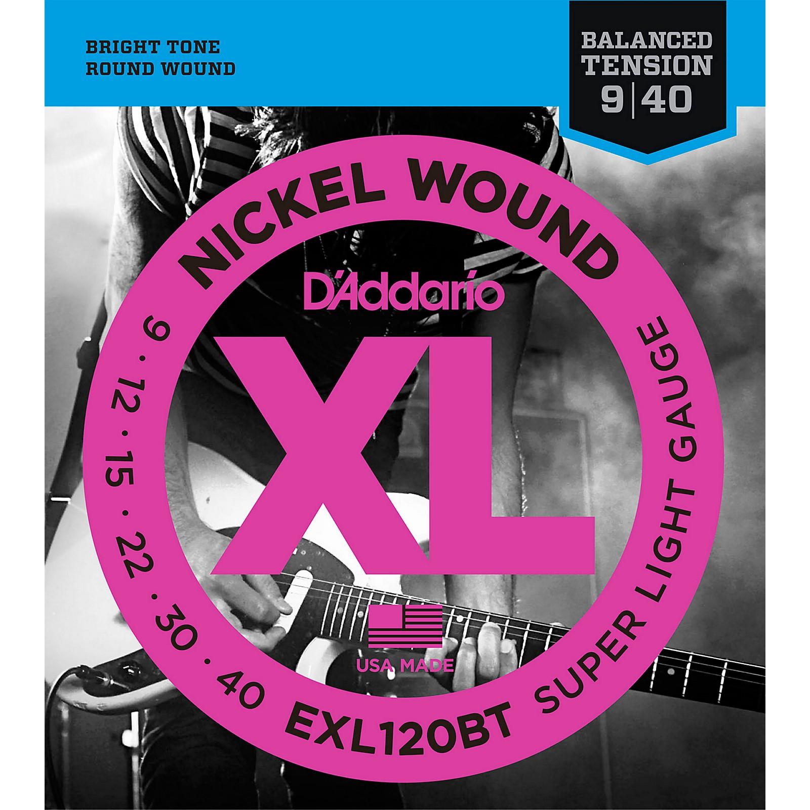 D'Addario EXL120BT Balanced Tension X-Lite Electric Guitar Strings Single-Pack