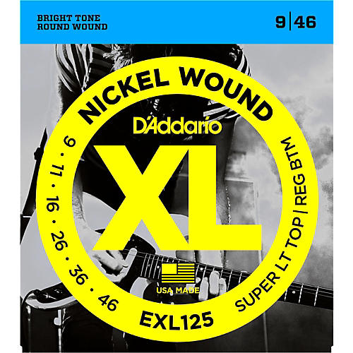 D'Addario EXL125 Super Light Top/Regular Bottom Electric Guitar Strings