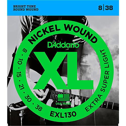 D'Addario EXL130 Nickel Extra Super Light Electric Guitar Strings