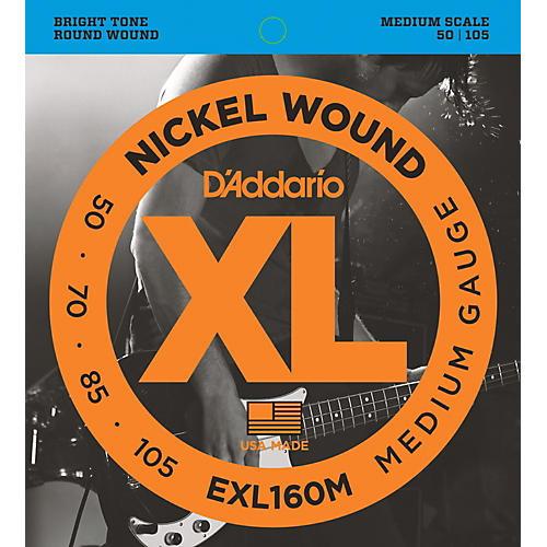 D'Addario EXL160M XL Medium Bass String Set