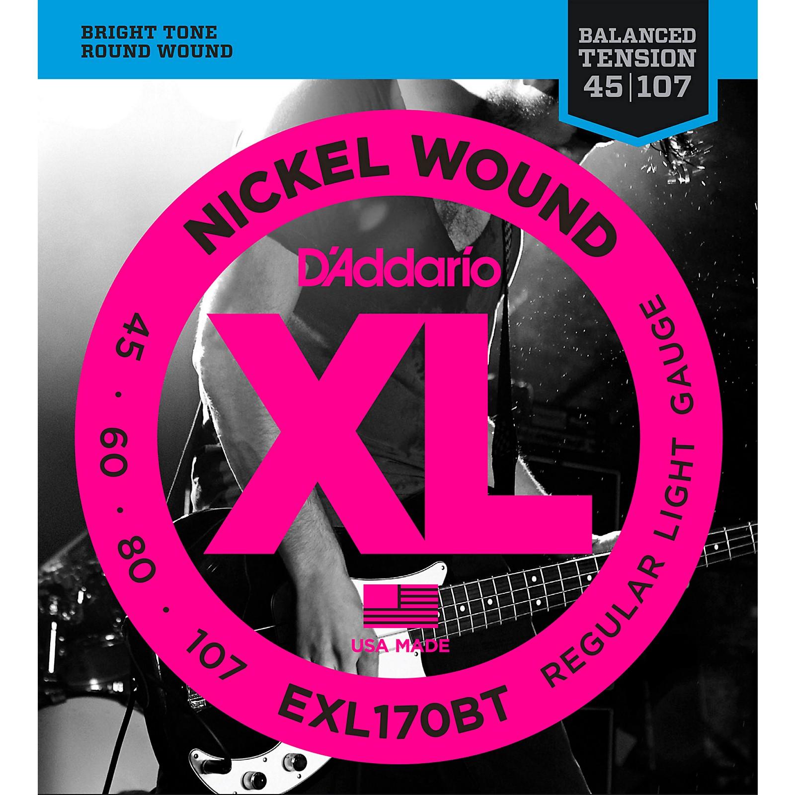 D'Addario EXL170BT Balanced Tension 45-107 Long Scale Electric Bass String Set
